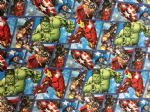 AVENGERS HULK IRON MAN CAPTAIN AMERICA - Fabric - Price Per Metre